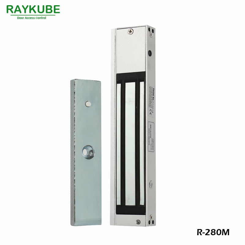 RAYKUBE Electric Magnetic Lock 280KG 610LB For Door Access Control System R-280M