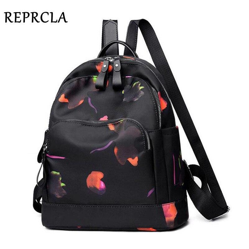 REPRCLA New Designer Backpack Waterproof Nylon Women Shoulder Bag Casual Bagpack School Bags For Teenage Girls Mochila