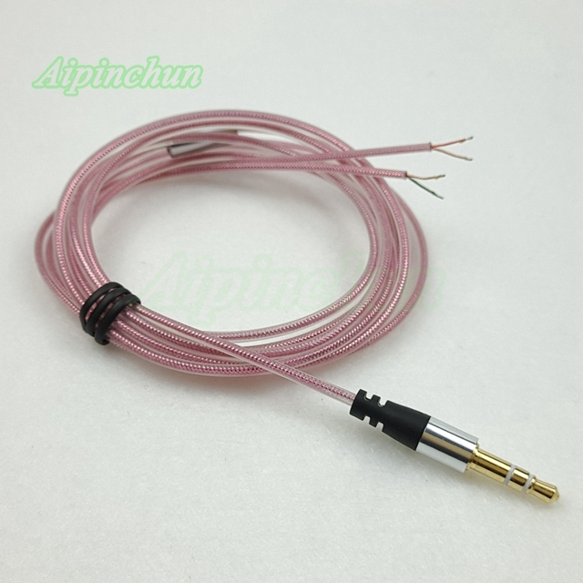Aipinchun 3.5mm 3 Pole Jack DIY Earphone Audio Cable Headphone ...