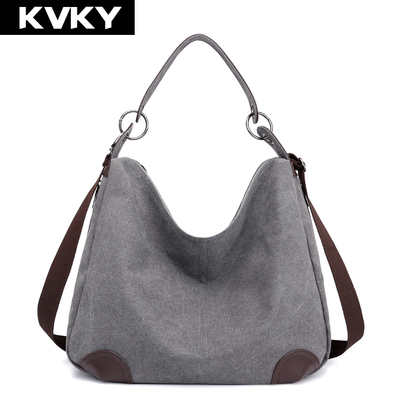 Canvas Bag Handbags Hobos Shoulder Bags Ladies Messenger Bag Vintage Totes Bolsos Feminina