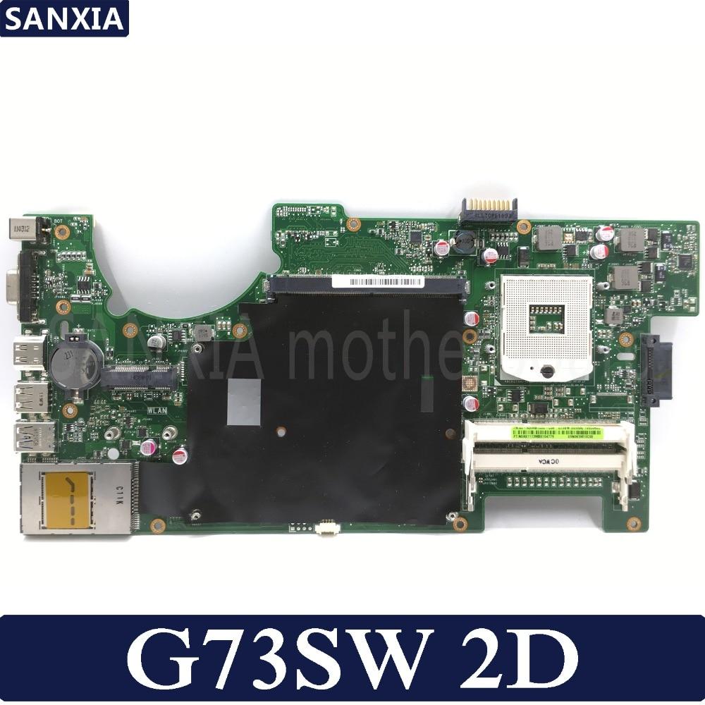 KEFU G73SW Laptop motherboard for ASUS G73SW G73S G73 Test original mainboard HM65 2D