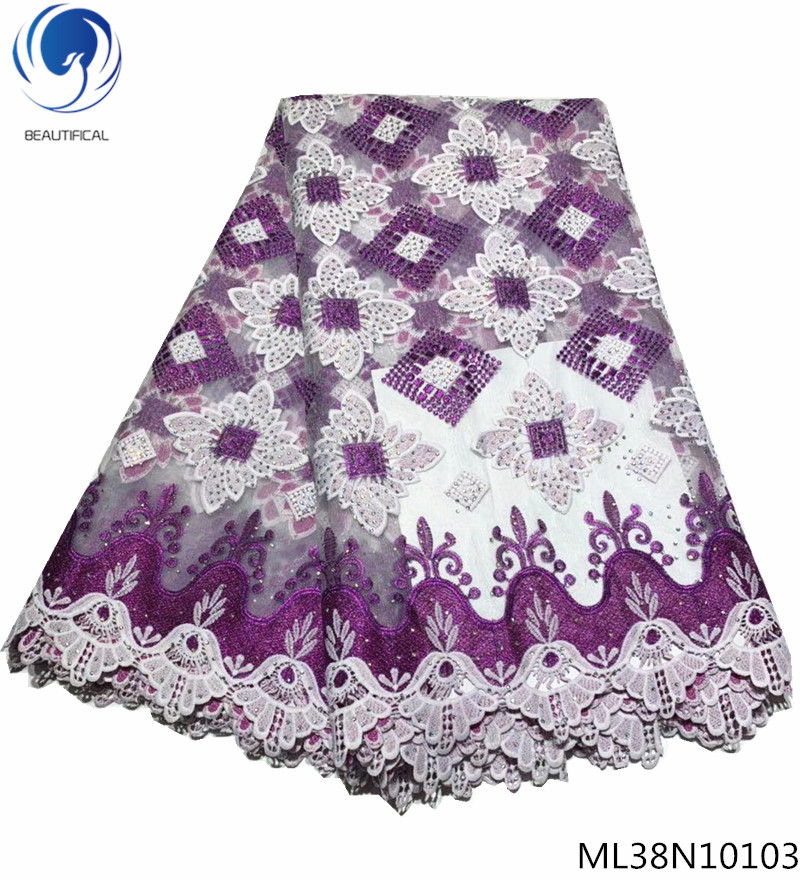 BEAUTIFICAL curtain lace fabric purple lace fabrics quality lace fabric cord guipure cord laces material rhinestones ML38N101BEAUTIFICAL curtain lace fabric purple lace fabrics quality lace fabric cord guipure cord laces material rhinestones ML38N101