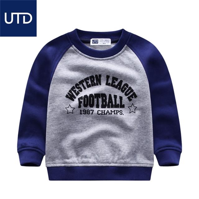 Camisola de algodão cor crianças 2017 novos meninos hoodies de todos os jogos pequenos meninos Terry jaqueta