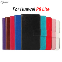 For Huawei P8 Lite Retro Crazy Horse Wallet Leather Cover Case For Huawei P8 Mini Vintage