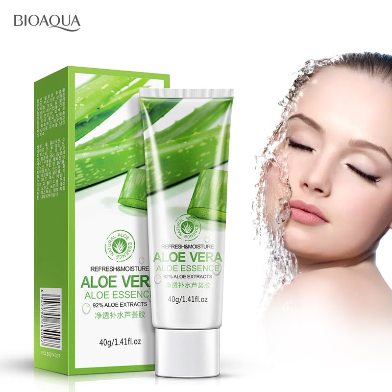 BIOAQUA Aloe Vera Gel Face Cream Hyaluronic Acid Anti Aging Winkle Whitening Cream Moisturizing Acne Treatment Face Skin Care