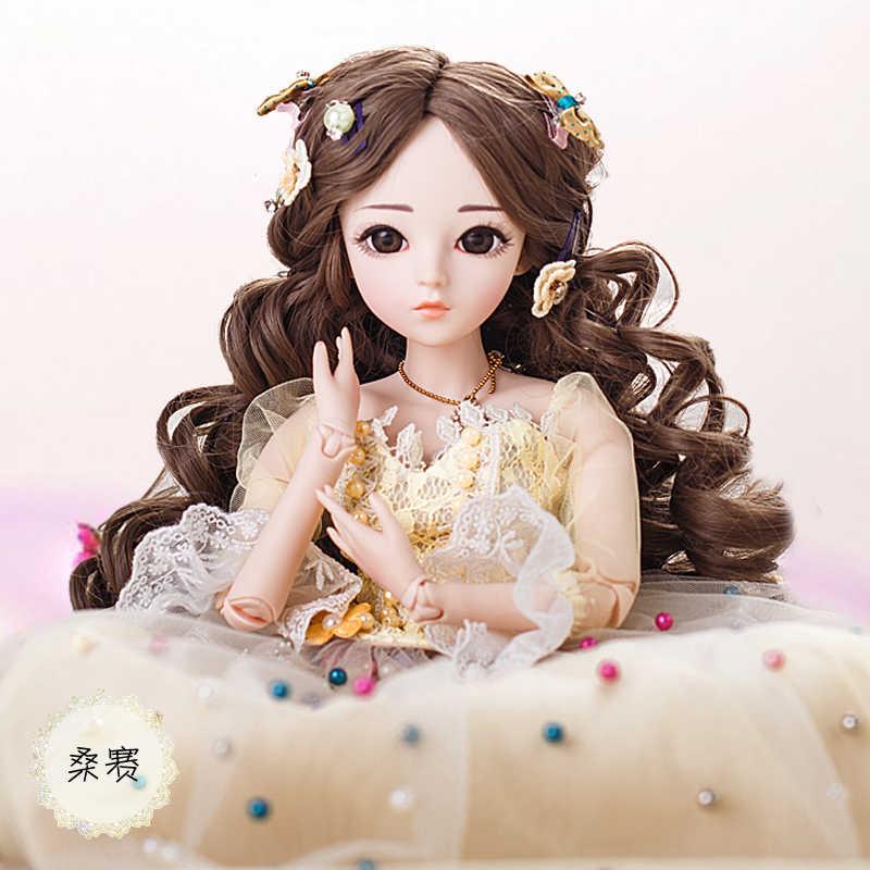 BJD 60 см куклы игрушки высшего качества китайская Кукла 18 шарнир BJD шарнир Кукла Мода девушка подарок сансай