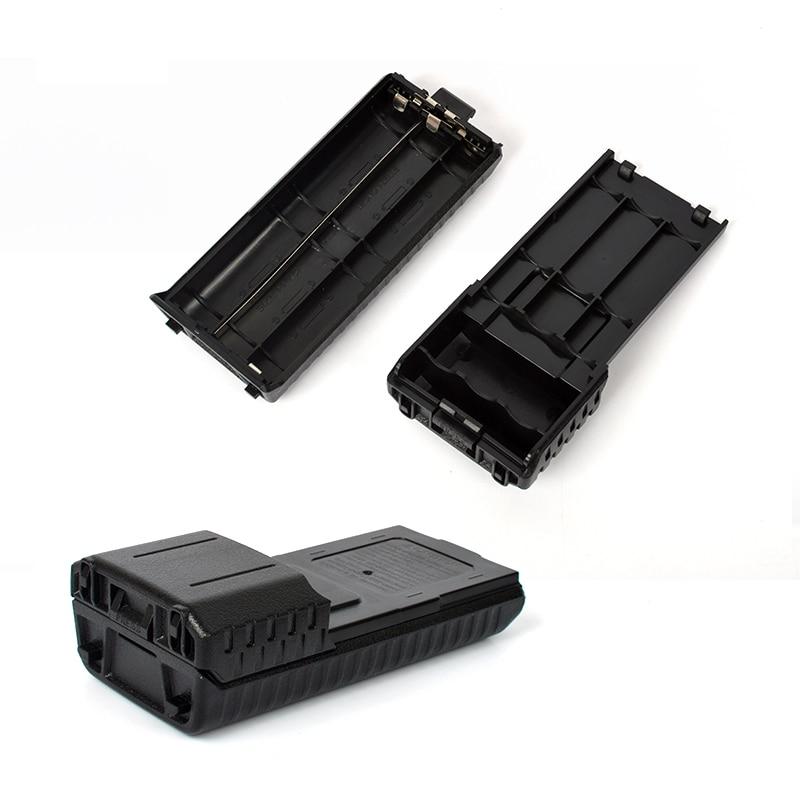 imágenes para Bao feng 6 aa caja de batería extendida baofeng uv-5r uv-5r + plus uv-5rb uv-5re uv-5re + plus tyt th-f8 th-th-f8d uvf9 th-uvf9