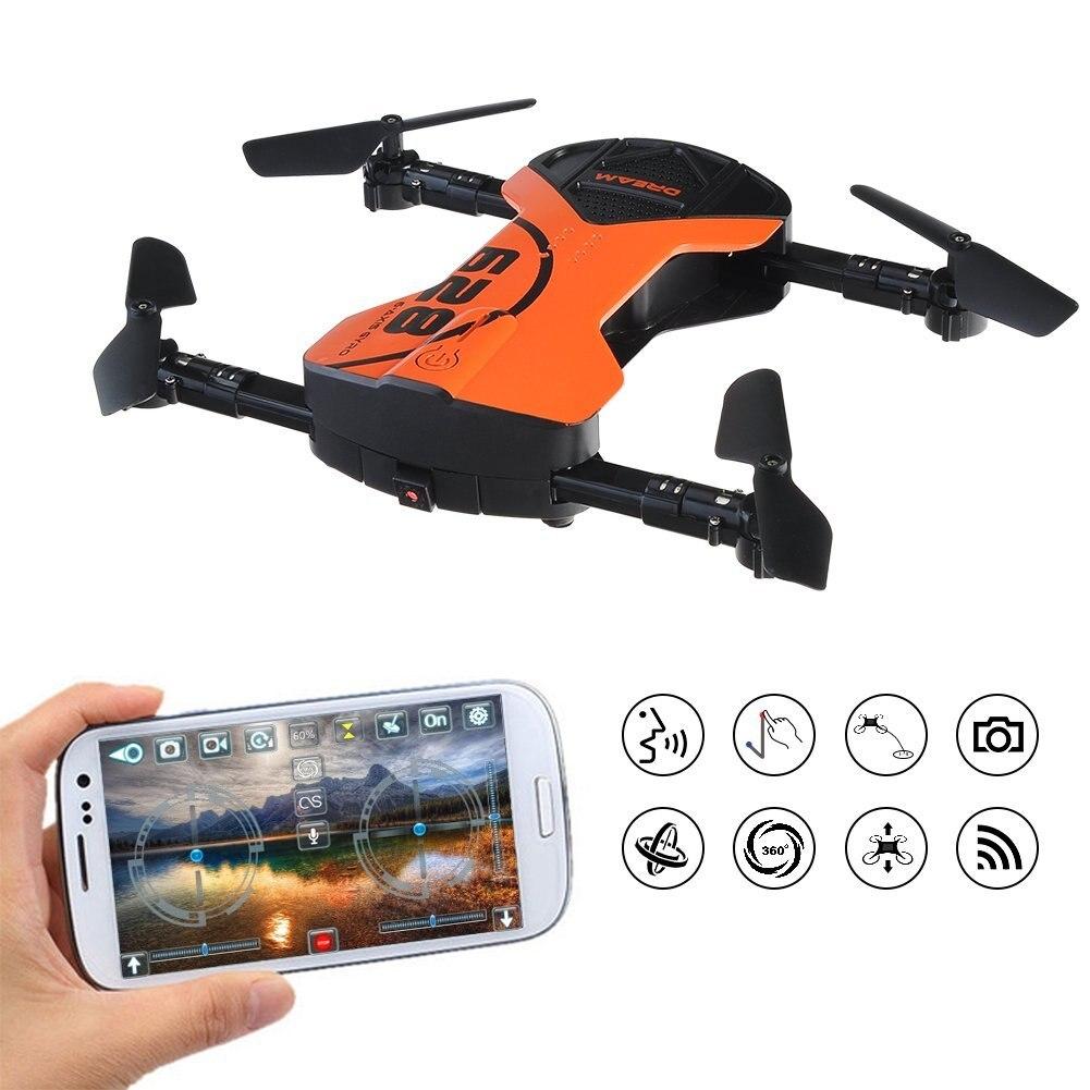 EBOYU (TM) 628 il Mantenimento di Quota RC Quadcopter Drone con HD WiFi della Macchina Fotografica Senza Testa FPV Pieghevole RC Drone con App Controllo Vocale