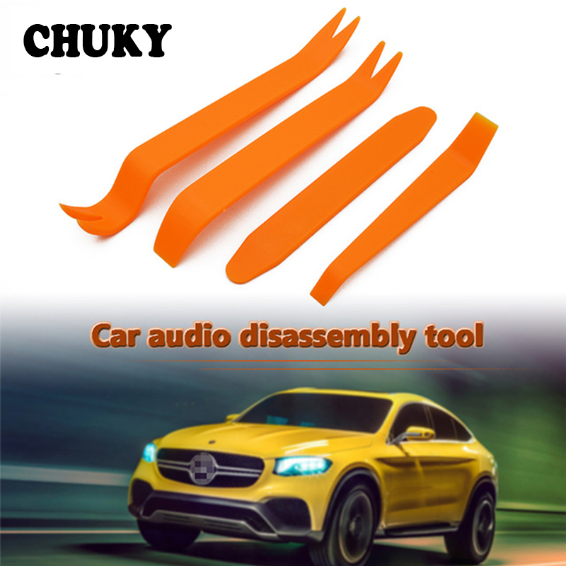 CHUKY 4pcs Car Styling Door Removal Tool Stickers For <font><b>Audi</b></font> a3 <font><b>a4</b></font> b8 b7 b5 <font><b>2017</b></font> Mitsubishi lancer asx Jeep Renegade Accessories image
