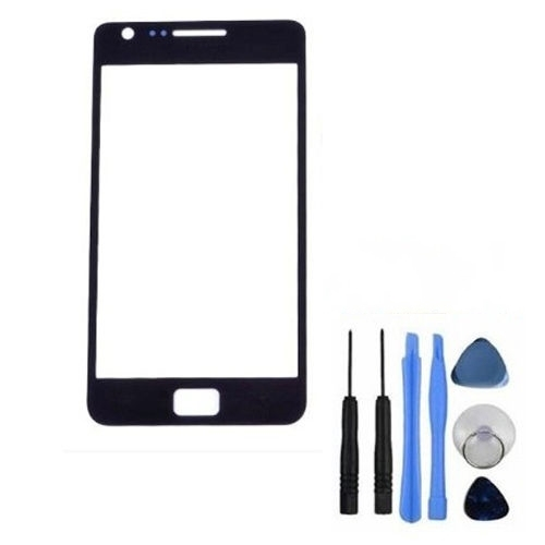 S2 Front Glass Black and White For Samsung Galaxy S2 i9100 Outer Glass