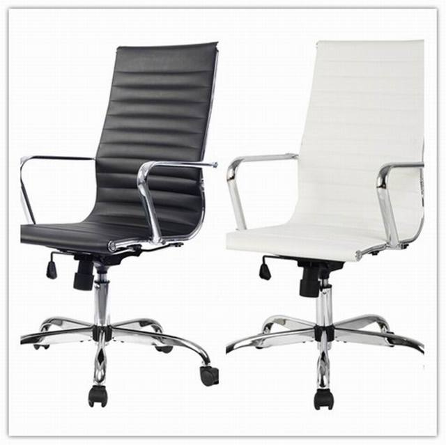 PU Taburete silla de oficina giratorio ajustable plegable ergonomica ...