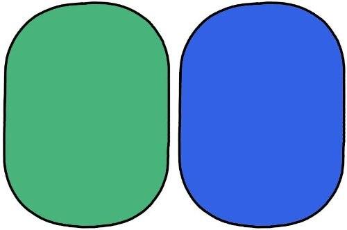 Rides-Résistant Coton Pliable Backgroud 5'x7'150x200cm Vert et Bleu Chromakey écran 2in1 twist conseil Toile De Fond + Sac de Transport