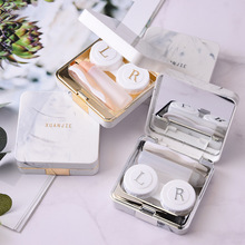 Lens Container Marble surface square mirror cover contact le