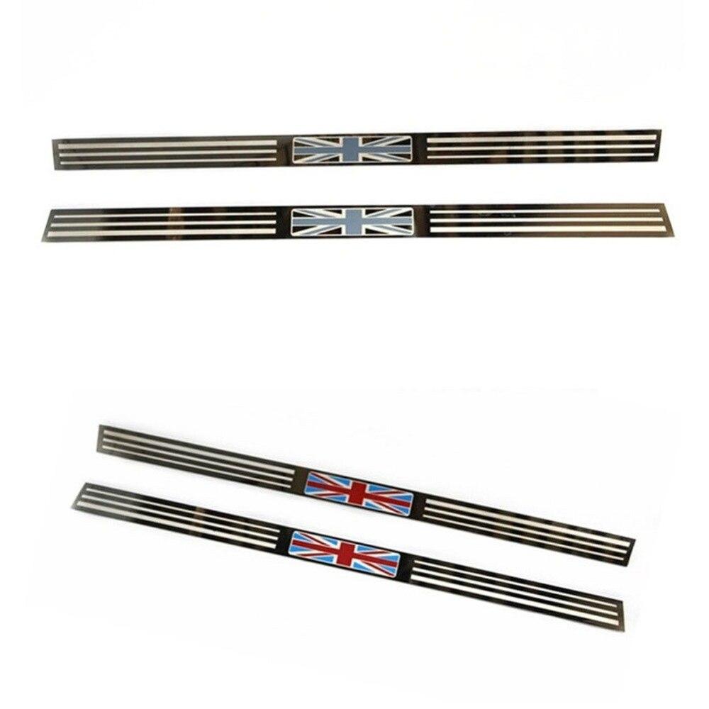 Plaque de seuil de porte de voiture en acier Union Jack bienvenue pied de lit porte éraflure autocollant couverture pour Mini Cooper R55 Clubman R56 R57 hayon