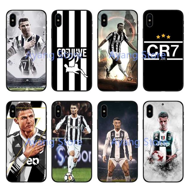 Juventus Football star Real Cristiano Ronaldo CR7 Soft Phone Case Cover  Coque For iPhone 5 5S SE 7 7Plus 6 6SPlus 8 8 Plus X 5a42abb7c