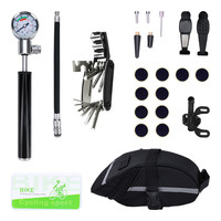 Bicycle Repair Tools 16 in 1 Screwdriver Multitool Cycling Cylinder Inflator Pump Tire Patch Bike Tool Mountain Bicycle Tools