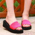 New Cheapest 2015 Summer Style Beach Womens Casual Open Toe Wedge Platform Flip Flop Slipper Sandals Indoor Slide Shoes