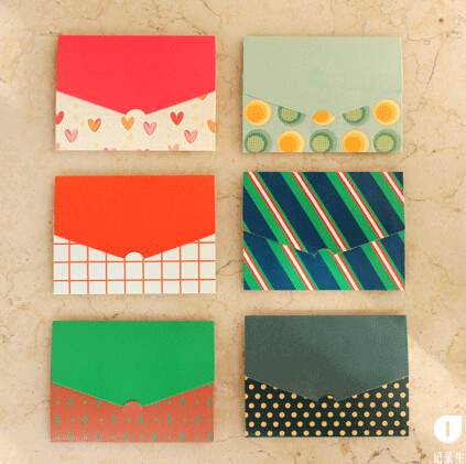 Envelopes with designs