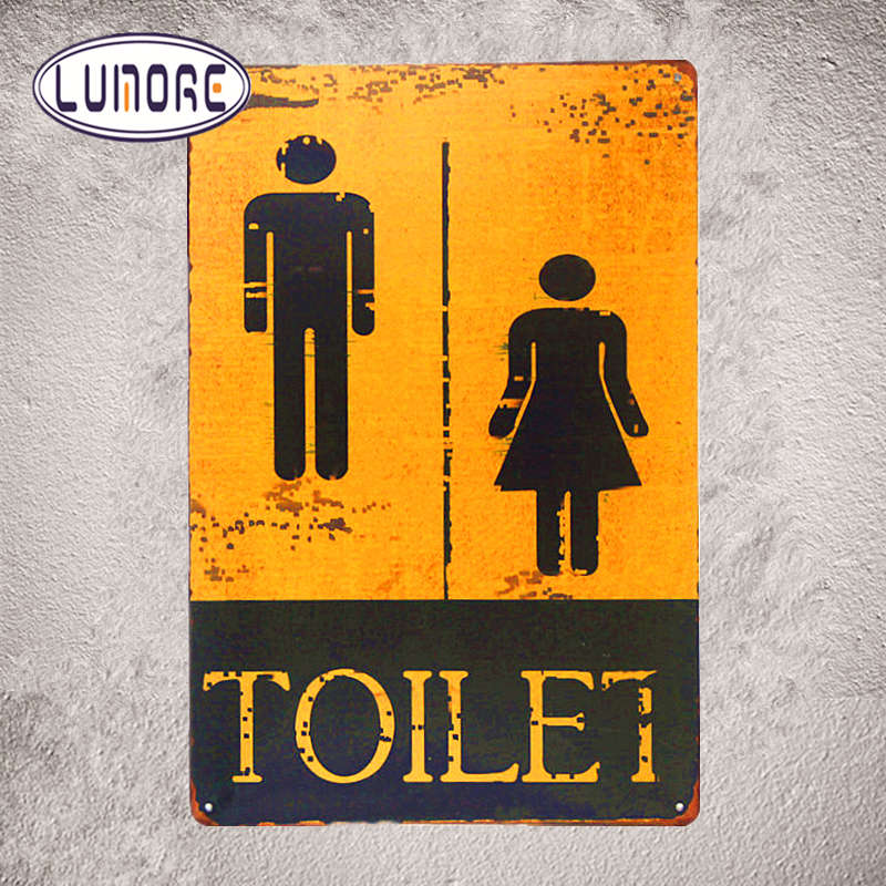 """ Toilet "" Metal Tin sign Vintage Plate Garage Pub Bar Restaurant Coffee Cafe Wall Stickers Decor"
