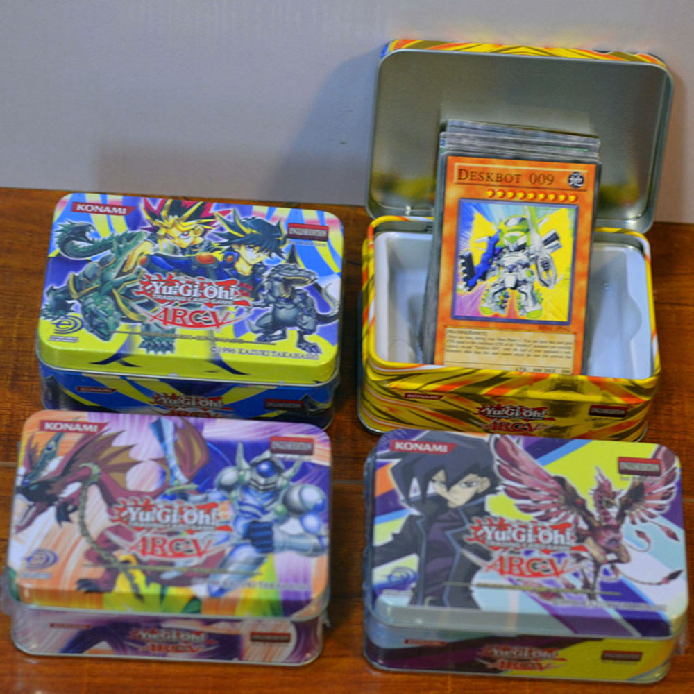41pcs/set Anime Japan Yu Gi Oh Game Cards Carton Yugioh With Iron Box Boy Girls Yu-Gi-Oh Collection For Fun