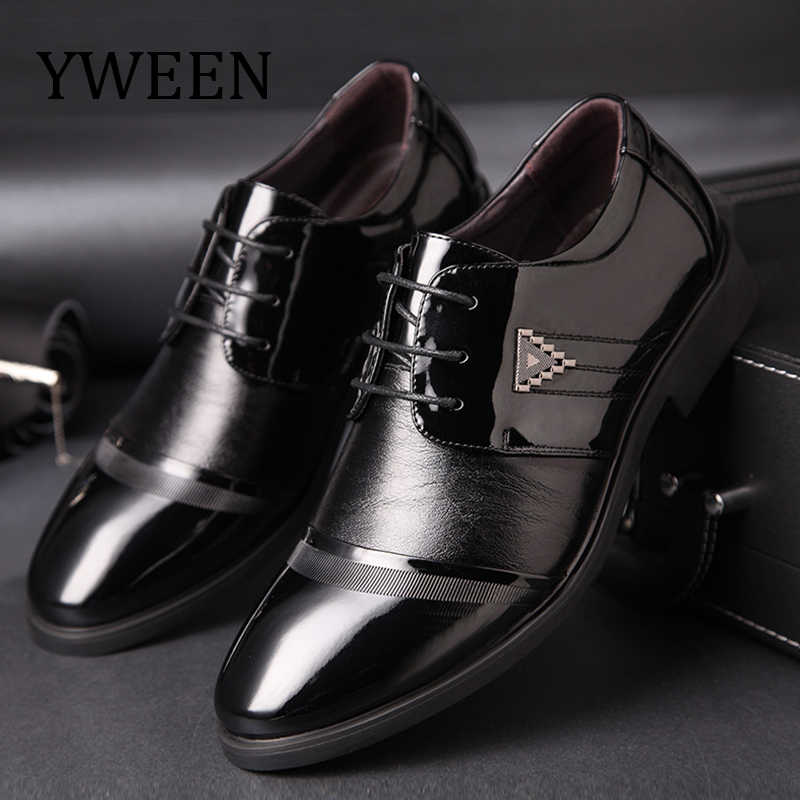 YWEEN New Men s Dress Shoes Men Business Flat Shoes Competitive price Breathable  Men Formal Office Shoes 459c4c96fae7