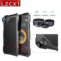 Cas Pour iPhone X En Métal Étanche Antichoc Macro Lentille Caméra Hybride armure Téléphone Couverture pour iphone X 10 5.8 pouce Cas Coque