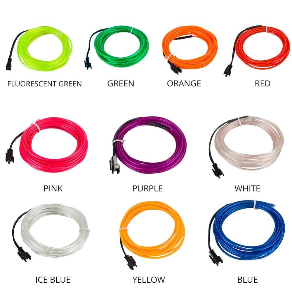 Гибкий светодиодный свет пробки 1 M 2 M 4 M 3 м 5 м Светодиодные ленты Водонепроницаемый электропровод изолента накал кабеля неоновая лампа для Костюмы авто