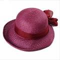 2016 Новая Соломенная Шляпа Большой Бант Мода Летние Шляпы для Женщин вводная часть Paille Широкими Полями Флоппи Beach Sun Cap Складная Лето Sunhat