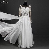 Boho playa vestido de novia 2015 ver a través de sexy Encaje panel piezas gasa backless del vestido de boda robe de mariage rsw894