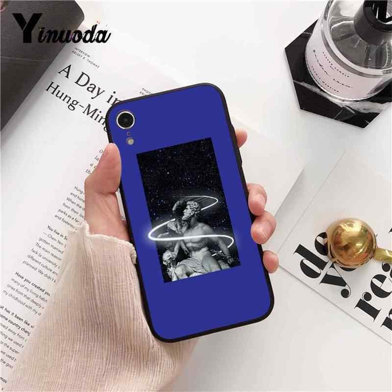 Yinuoda Mona Lisa arte David líneas negro caja del teléfono para iPhone 5 5Sx 6 6 7 7 plus 8 8 plus X XS X MAX XR 10