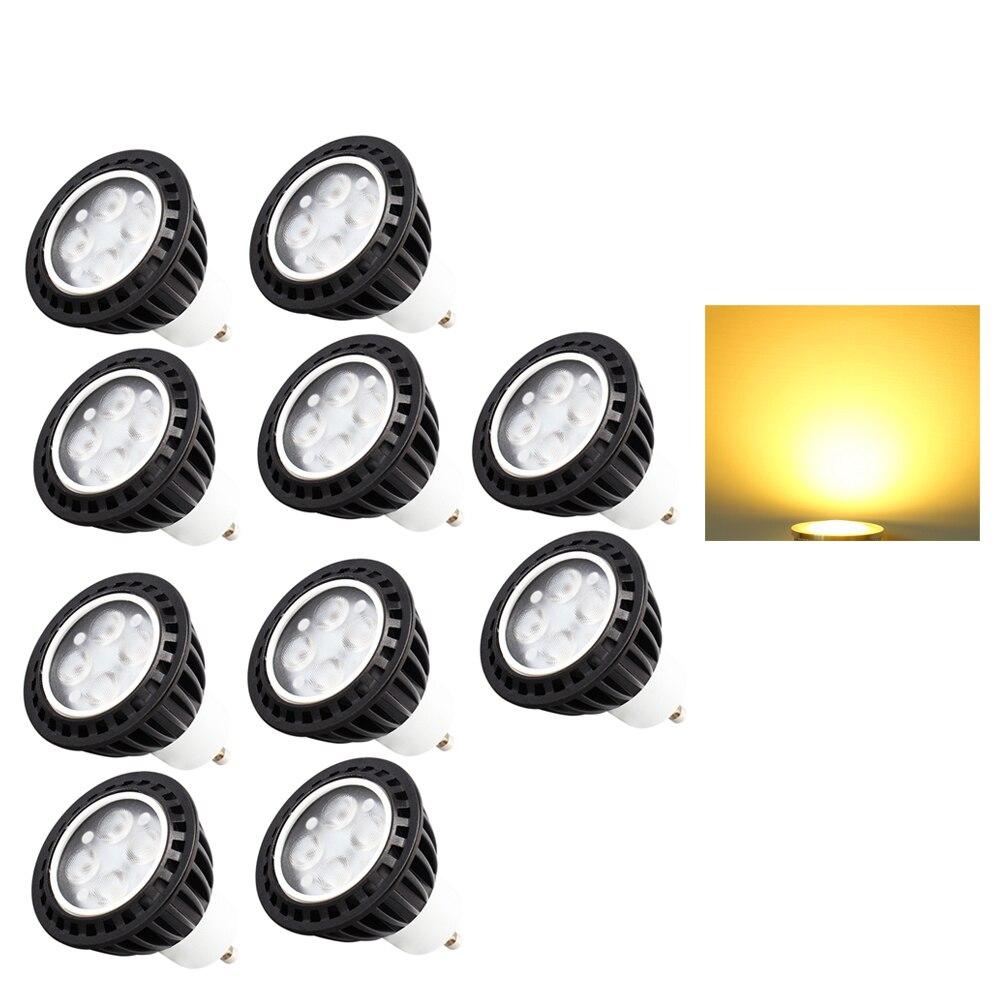 10x Super Bright 4W GU10 Dimmable LED Bulb for living room/bedroom AC95V-240V Led Spotlights Warm/Cool White GU10 LED lamp 5pcs e27 led bulb 2w 4w 6w vintage cold white warm white edison lamp g45 led filament decorative bulb ac 220v 240v
