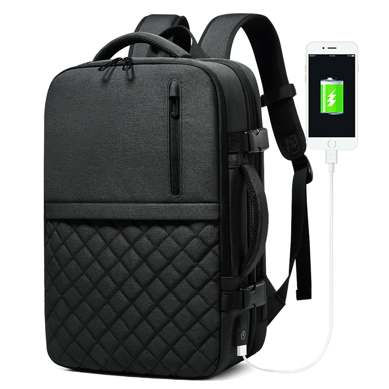 15 6 inch Laptop Backpack Men Fashion USB Charging Water Repellent Backpack Large Capacity Travel Backpack
