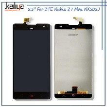 Купить Для ZTE Nubia Z7 Max nx505j ЖК-дисплей Дисплей + 5.5 дюймов Сенсорный экран планшета Ассамблеи Замена для Nubia Z7 Max nx505j новые черные