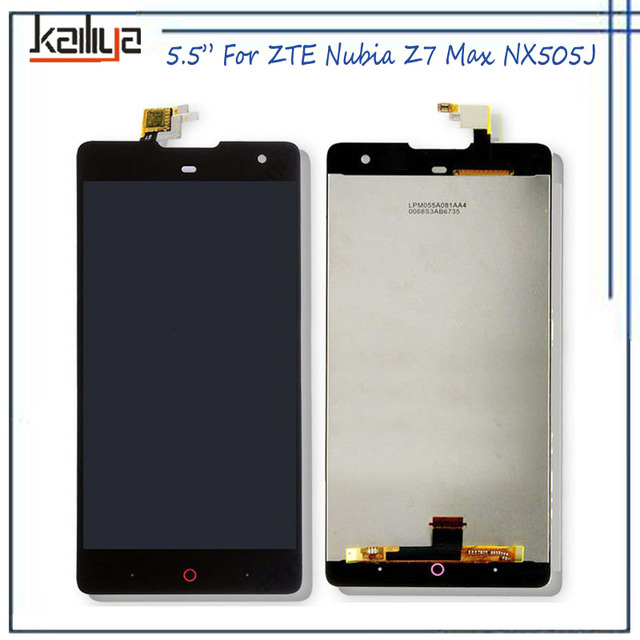 For ZTE Nubia Z7 Max NX505J LCD Display+5.5 Inch Touch Screen Digitizer Assembly Replacement For Nubia Z7 Max NX505J Black NEW