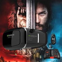Shinecon VR Pro Version Virtual Reality 3D Glasses Headset Head Mount Google Cardboard Movie Game For 4-6 inch Phone   Remote