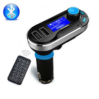 Wireless Hands Free Bluetooth Car Kit FM Transmitter MP3 Player With Dual 2 1A USB Charging