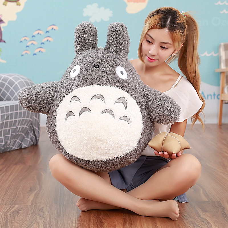 40cm Famous Cartoon Movie Character Lovely Plush Totoro Toy Soft Stuffed Pillow Cushion Birthday Gift Toys for Children Kids northern europe style double 3d printing ins doll plush sofa stuffed animal child toys birthday xams gift dash pillow cushion