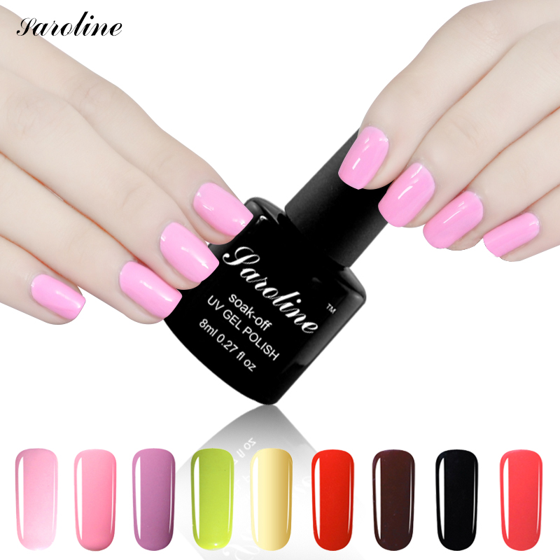 saroline brand 24 colors nail art 3in1 semi permanent soak off professional uv nail gel one step. Black Bedroom Furniture Sets. Home Design Ideas