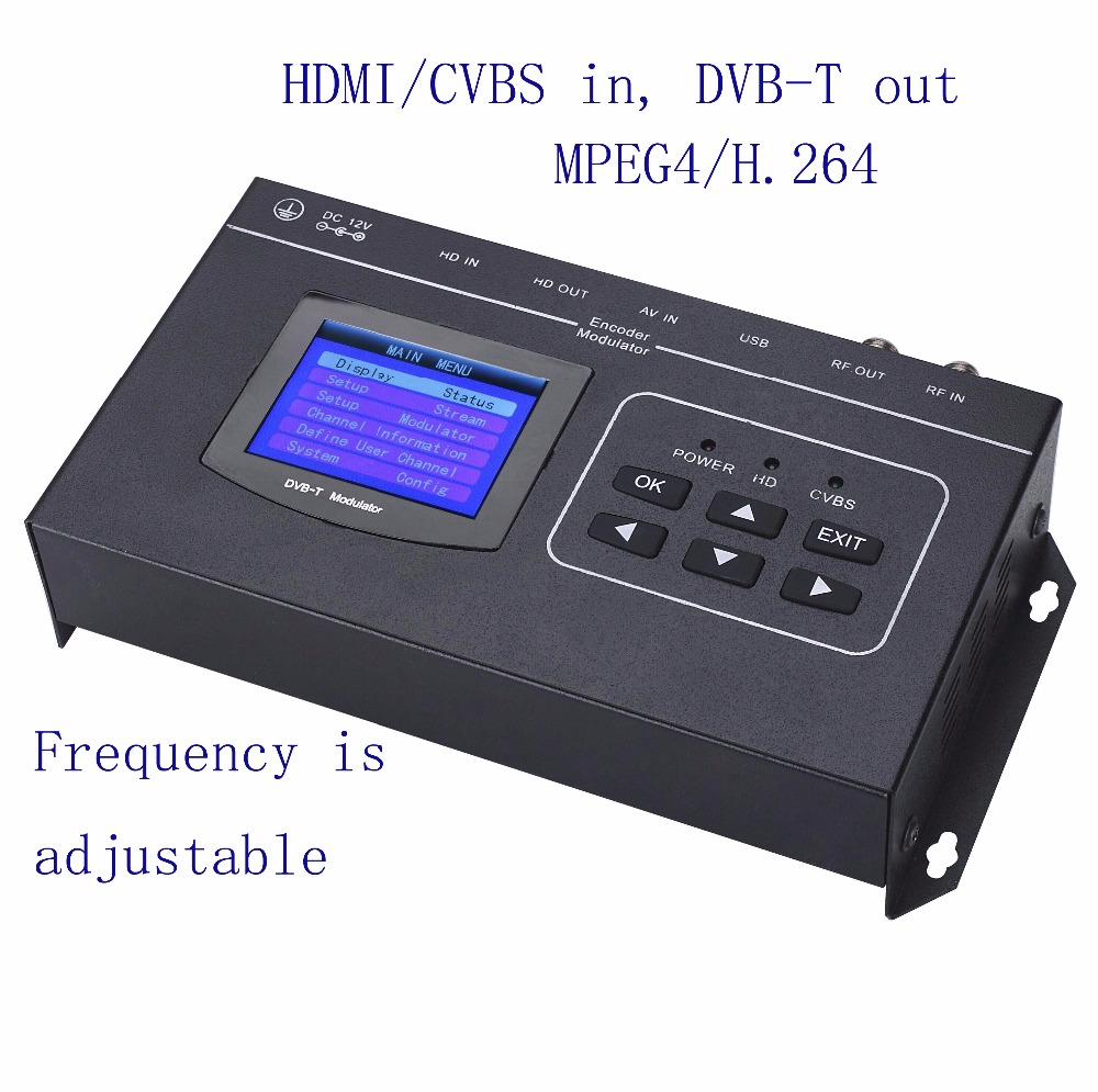 1080P HDMI/CVBS to DVB-T encoder modulator Digital TV Headend QAM RF Modulator dvb-t digital modulator DM-02TH DVB-TCOFDM futv4622a dvb t mpeg 4 avc h 264 sd encoder modulator tuner cvbs rca in rf out with usb upgrade for home use