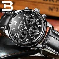 Schweiz BINGER Frauen Uhren Luxus Marke Quarzuhr Frauen Wasserdicht Relogio Feminino Sapphire Uhr Armbanduhren B-603W4