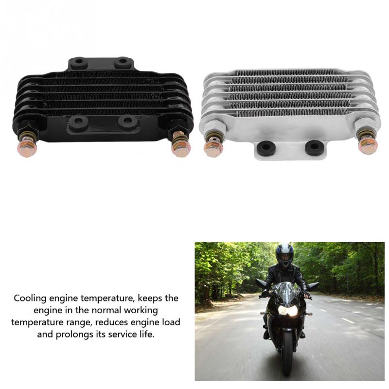 US $53 64 29% OFF|85ml Motorcycle Oil Cooler motor Accessories Oil Cooler  Engine Oil Cooling Radiator System Kit for Honda GY6 100CC 150CC Engine-in