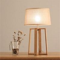 Лофт Nordic Простой творческая личность дерево Спальня настольная лампа гостиная прикроватные office исследование лампы Бесплатная доставка