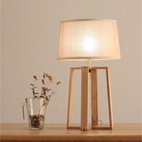 Loft Nordic Simple Creative Personality Wood Bedroom Reading Table Lamp Livingroom Bedside Office Study Lamp Free Shipping