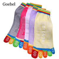 Goebel Ladies Cotton Socks Casual Breathable Short Tube Socks Woman Non slip Fashion Toe Socks For Women 5pairs/lot