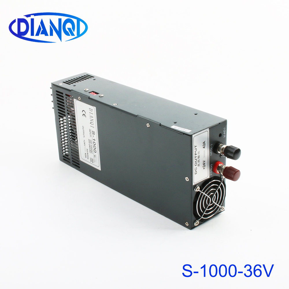 power suply output 36v 28a 1000w ac to dc power supply 1000w 36v 28a input 110v or 220v select by switch high quality s-1000-36power suply output 36v 28a 1000w ac to dc power supply 1000w 36v 28a input 110v or 220v select by switch high quality s-1000-36