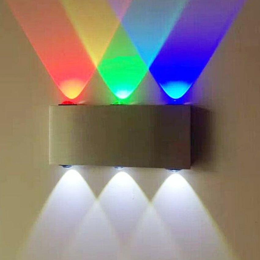 moda interior 6 w conduziu a lampada de parede ac100v 220 v acrilico abajur material aluminio