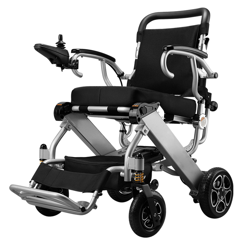 Free shipping Product CE FDA Lightweight Portable Travel Aluminum Folding Lithium Battery Power Electric Wheelchair