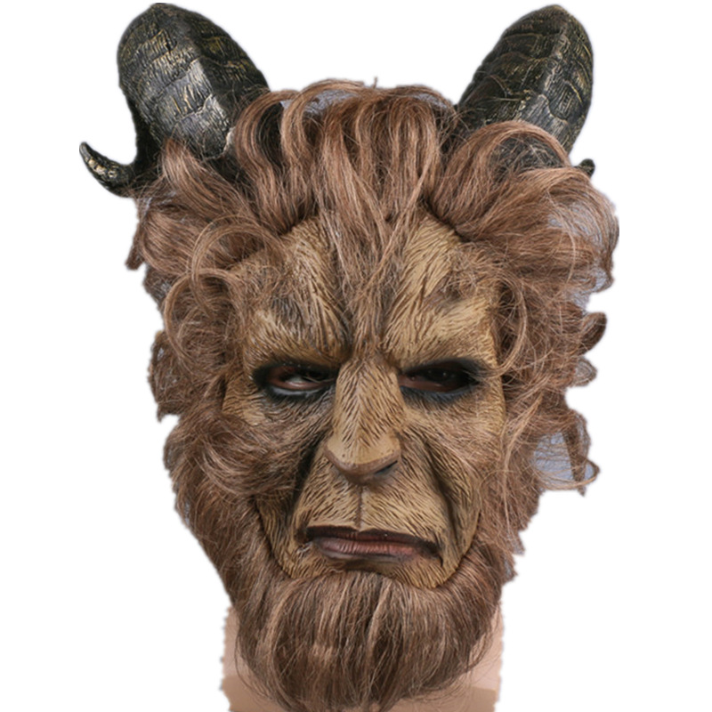 New Movie Beauty and the Beast Cosplay Beast prince mask  Costume suit for Halloween and Party