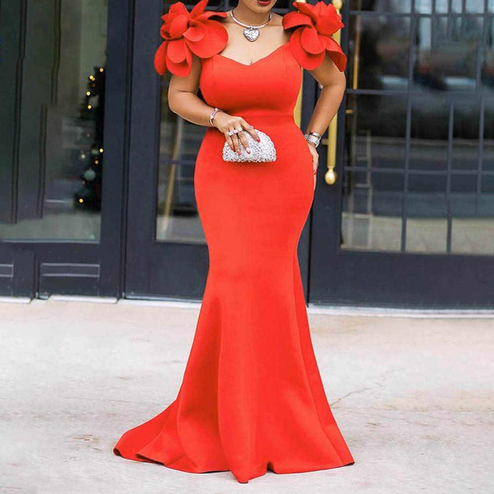 Clocolor, женское сексуальное платье, Ретро стиль, Русалка, макси платье, цветок, летнее, элегантное, стильное, размера плюс, облегающее, красное, длинное, для вечеринок
