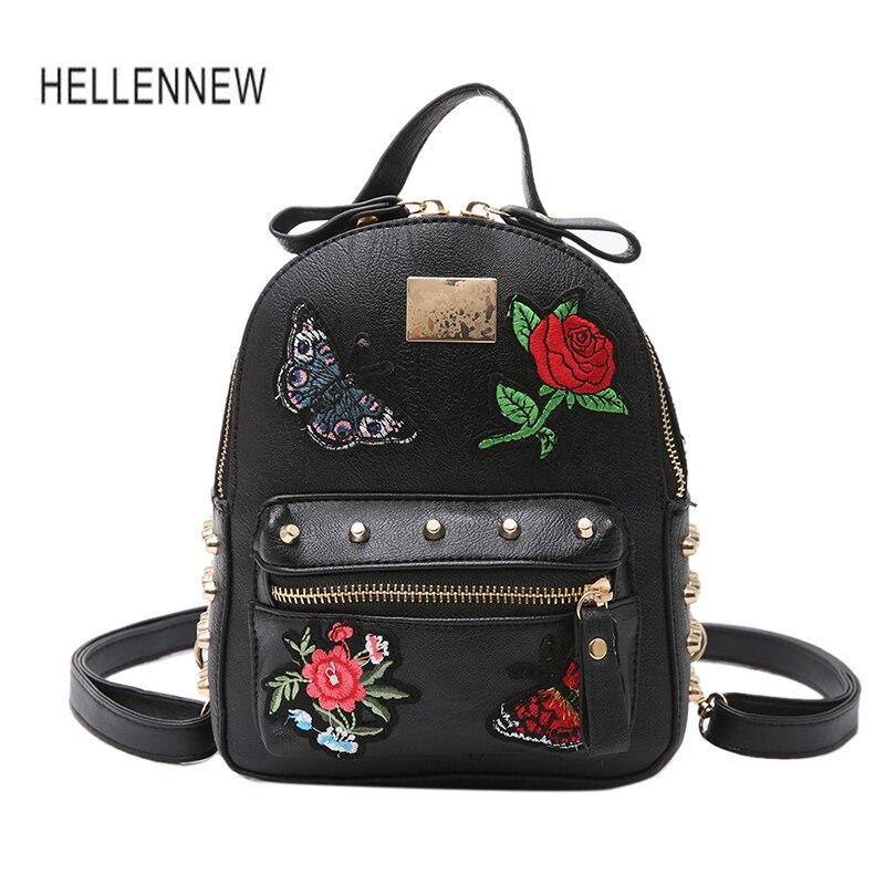 Hellennew 2017 Mini Backpacks for Girls Multi functions Women Small Pretty Butterfly Shoulder Bag Feminine Backpack